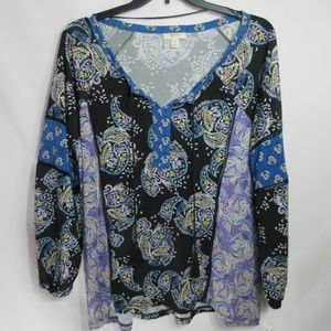 Women's Style & Co. Button up Floral Top $49